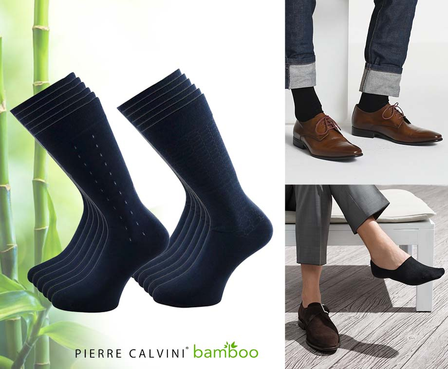 Foto 12-Pack Pierre Calvini Bamboe Sokken - Lang Of Kort In...