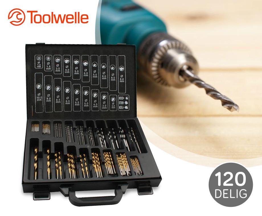 120 delige toolwelle borenset metaal steen en houtboren in handige koffer aanbieding - Outs allee tuin ...