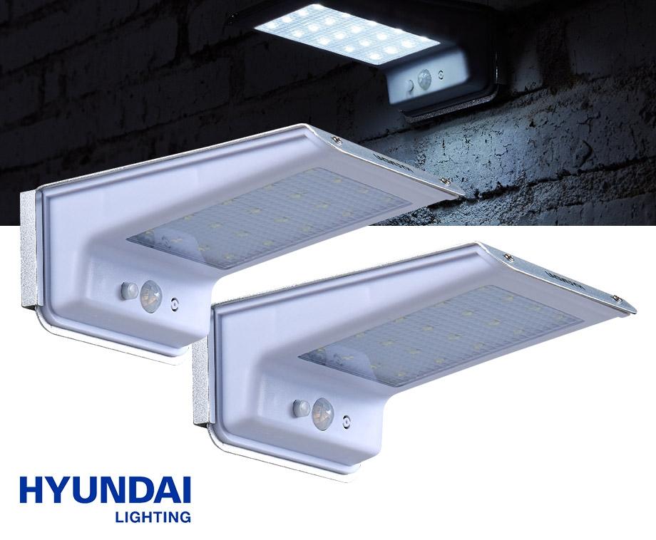 2-Pack Hyundai Draadloze Solar LED Buitenlampen - Met Bewegingssensor!
