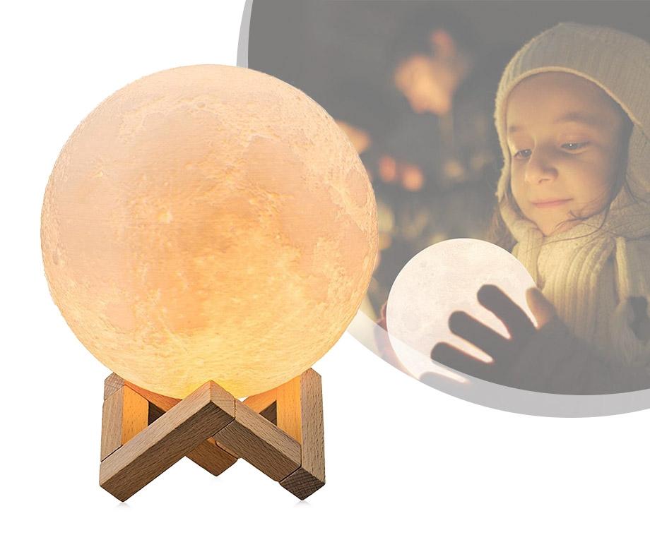 3D Oplaadbare Maanlamp - Verkrijgbaar In 2 Maten!