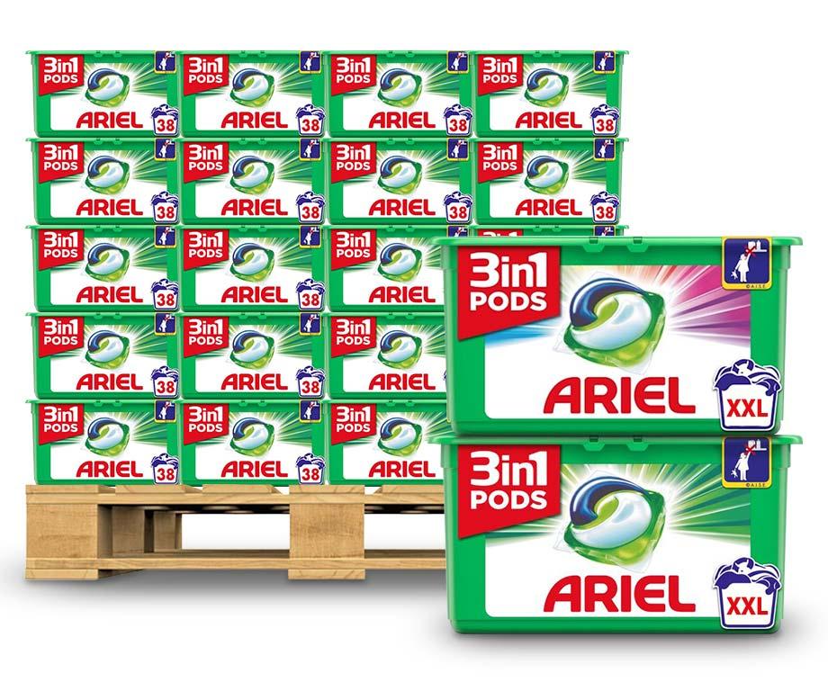 Dagaanbieding - GIGA PACK Ariel 3-in-1 Pods - Keuze Uit Kleur Of Regulier! dagelijkse koopjes