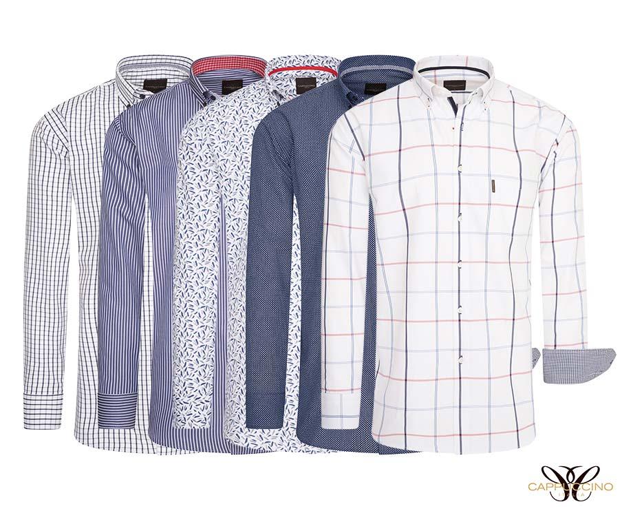 Cappuccino Italia Overhemden Met Print 6 Kleuren In Maat S t m 5XL!