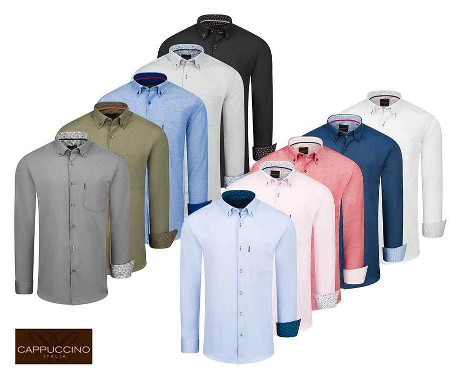 Cappuccino Italia Overhemden - 8 Kleuren In Maat S t/m 5XL!