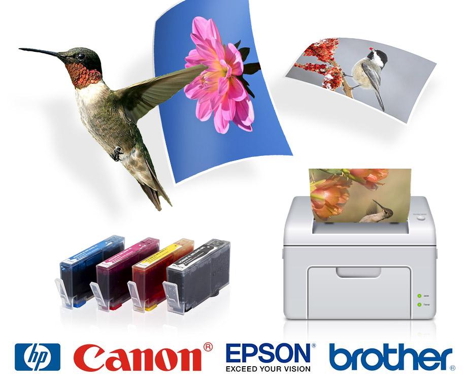 Cartridges Voor HP, Epson, Brother & Canon Printers - Bij 2 Sets...
