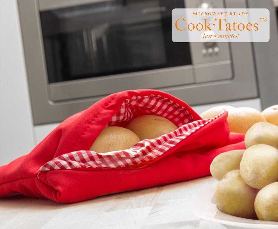 Cook Tatoes Magnetron Aardappelzak - Aardappels Gaar In 4 Minuten!