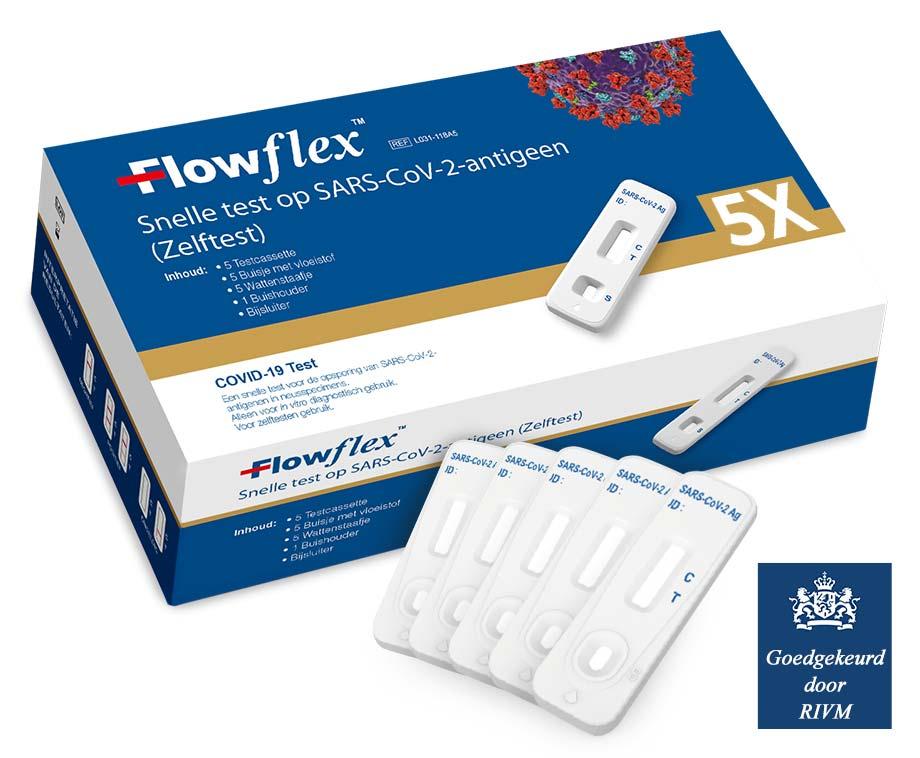 Corona Zelftest Van Flowflex - 5 Stuks Voor Slechts 4,99 Per Test!