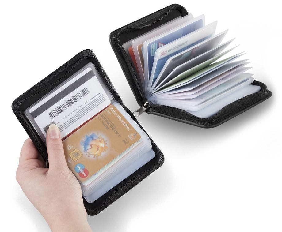 Portemonnee Voor Veel Pasjes.Anti Skim Portemonnee In Micro Formaat Geschikt Voor 36 Pasjes