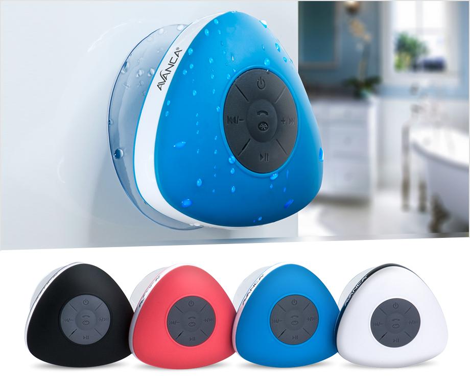 Badkamer Speaker Bluetooth : Waterdichte bluetooth speaker van avanca voor in de badkamer of