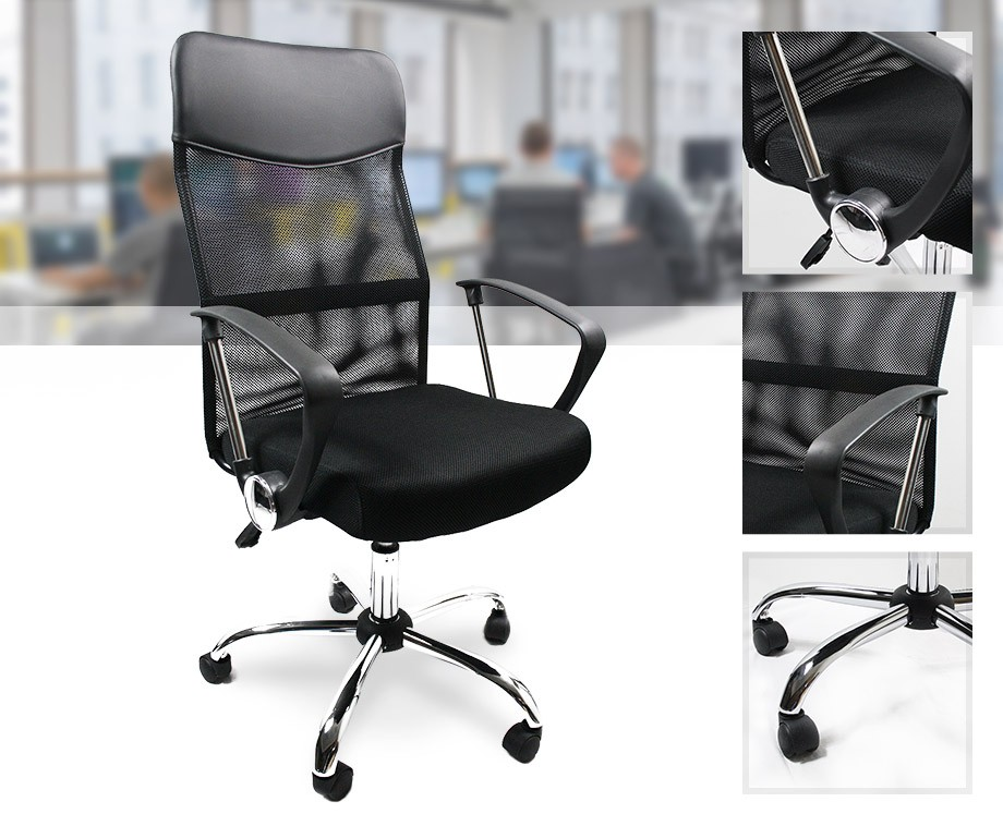 Luxe bureaustoel met armsteunen biedt perfecte ondersteuning