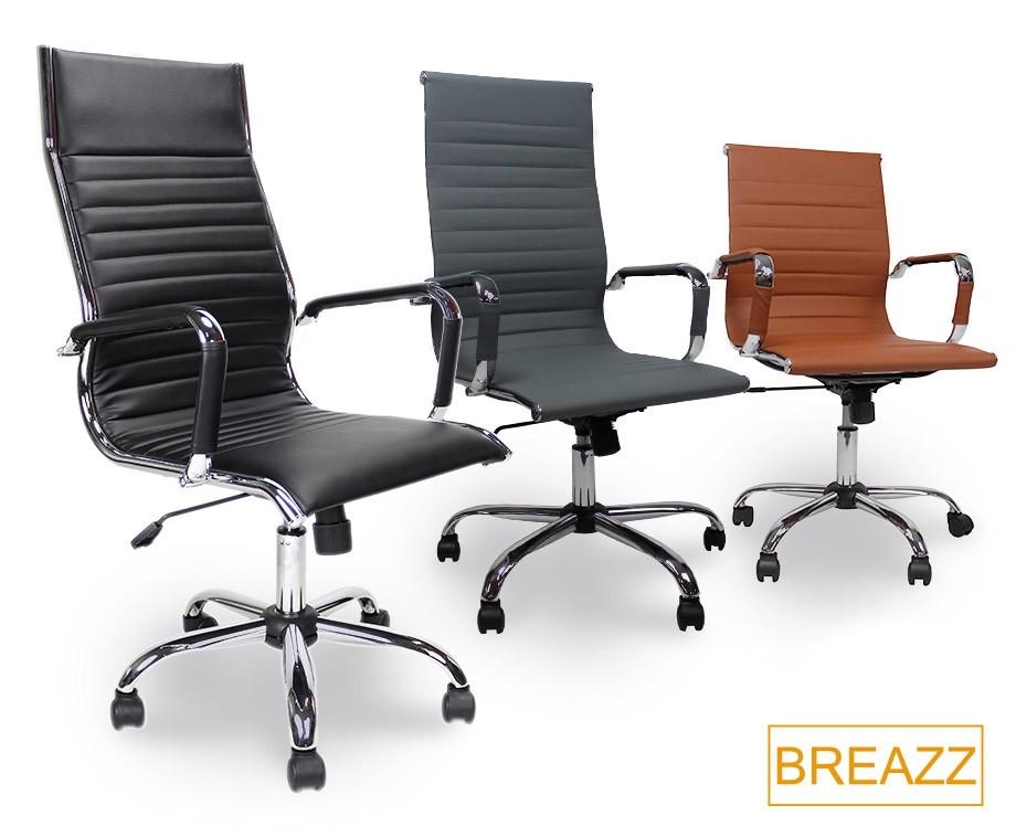 Bureaustoel Hoge Rugleuning.Luxe Breazz Design Bureaustoel Met Hoge Of Lage Rugleuning