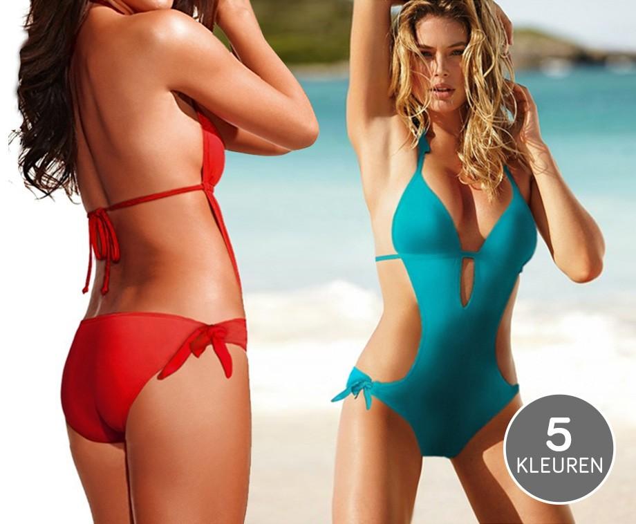 Badpak Bikini.Sexy Design Badpak Met Bikini Achterkant Gedeeltelijk