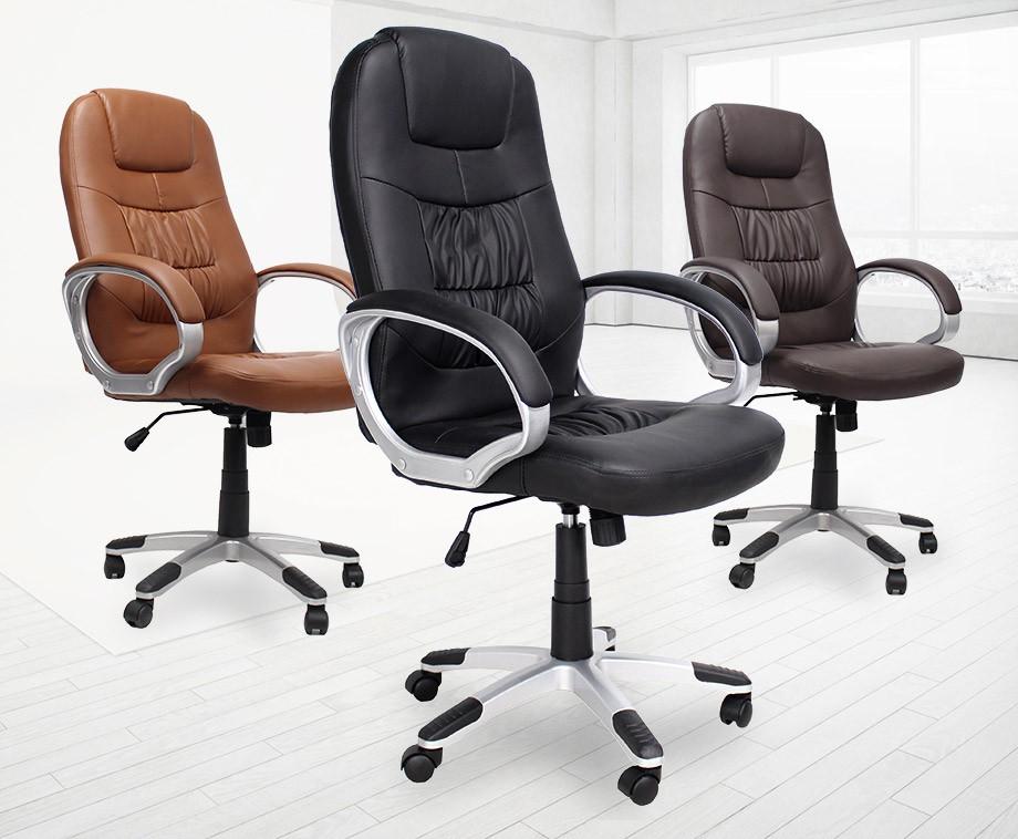 Luxe Leren Bureaustoel.Luxe Verstelbare Bureaustoel In 3 Verschillende Kleuren