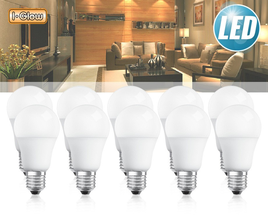 5  Of 10 Pack E27 Fitting LED Lampen 1000+ Lumen!