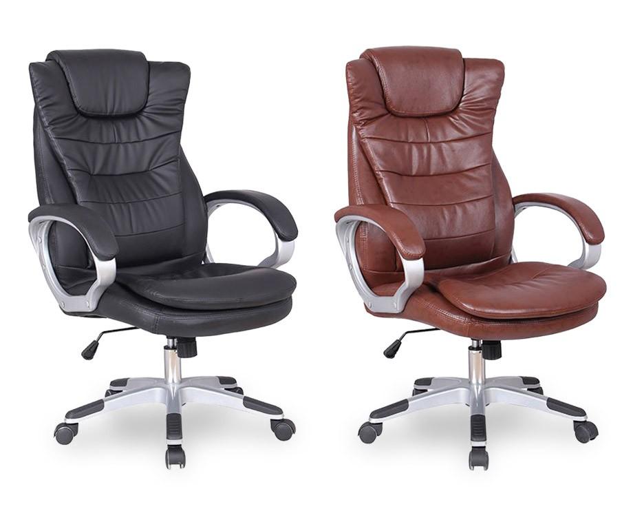 Luxe empire bureaustoel verkrijgbaar in bruin of zwart