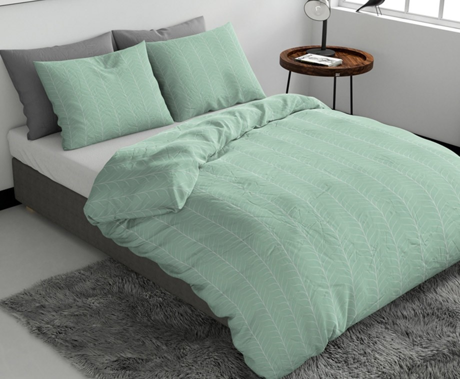 Wake up bedding dekbedovertrek pattern green