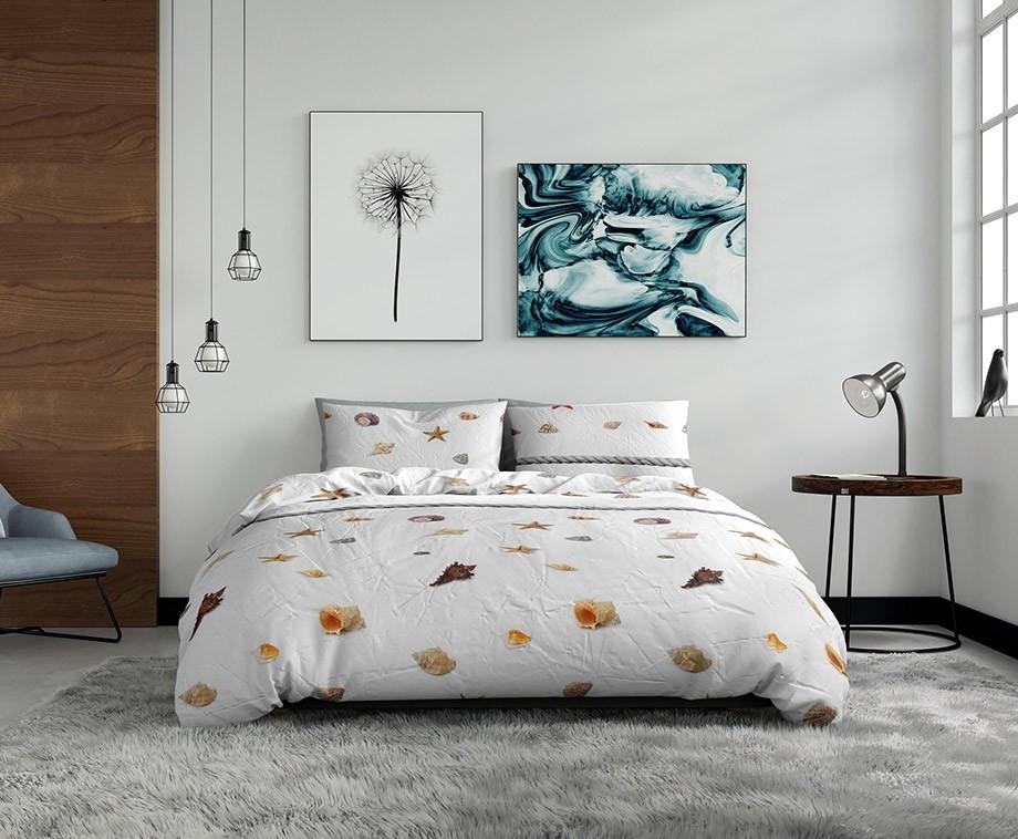 Wake up bedding dekbedovertrek sea shells 140 x 200 220 1