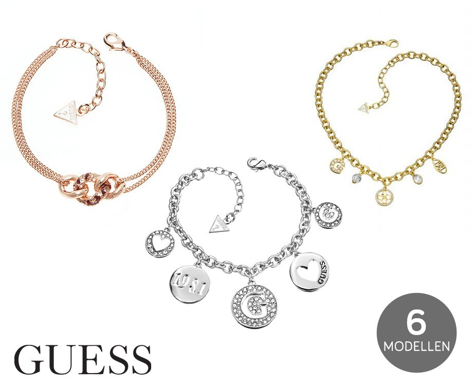 Juwelen Van Guess Keuze Uit Verschillende Armbanden En Kettingen!