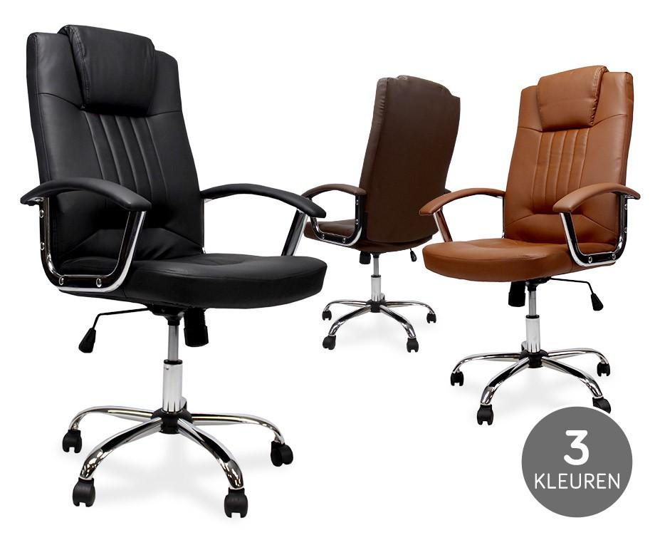 Luxe ergonomische bureaustoel met comfort kussens en brede