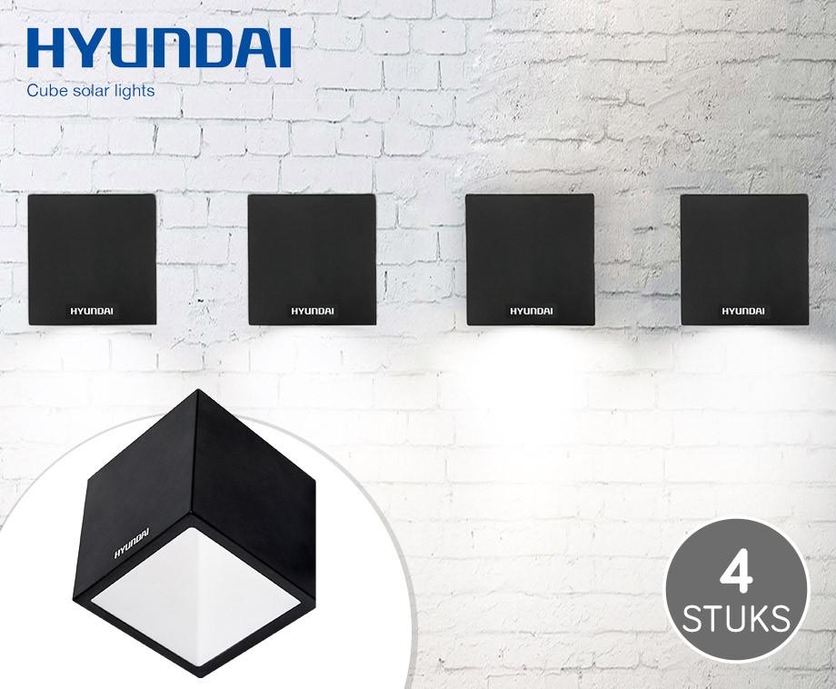 4 draadloze solar led cubes voor buiten gaan automatisch aan in het donker