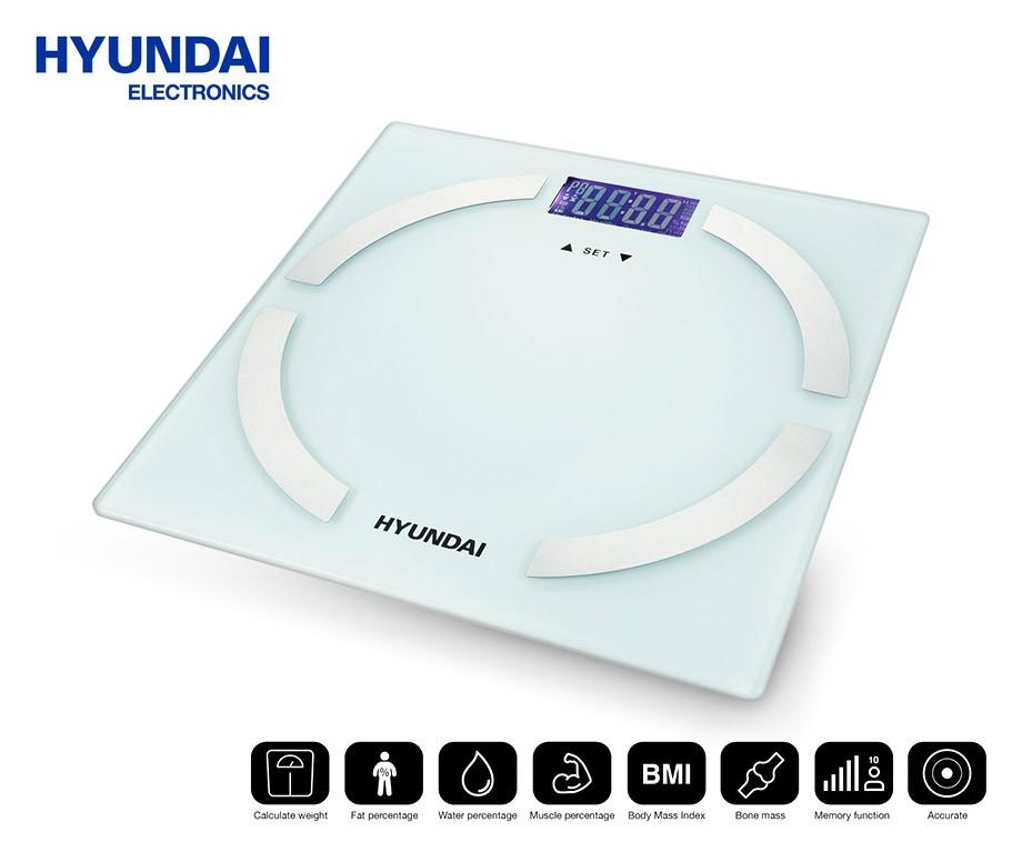 hyundai lichaamsanalyse weegschaal meet gewicht, bmi en meerhyundai lichaamsanalyse weegschaal meet gewicht, bmi en meer!