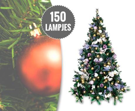 kerstboom met ledverlichting inclusief metalen voet niet van echt te onderscheiden