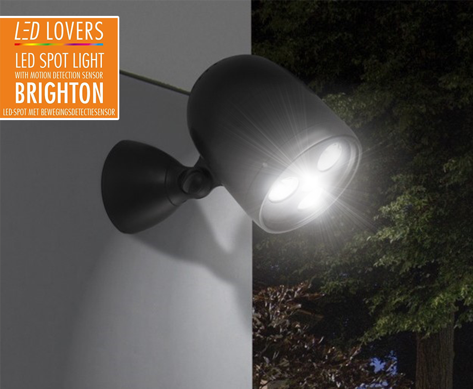 Draadloze sterke led buitenlamp met sensor bestel of