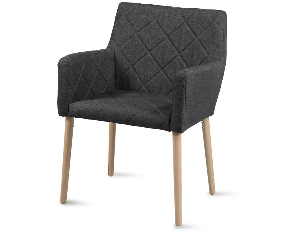 Leya stoelen met leuning met stijlvol ruitpatroon! dagelijkse