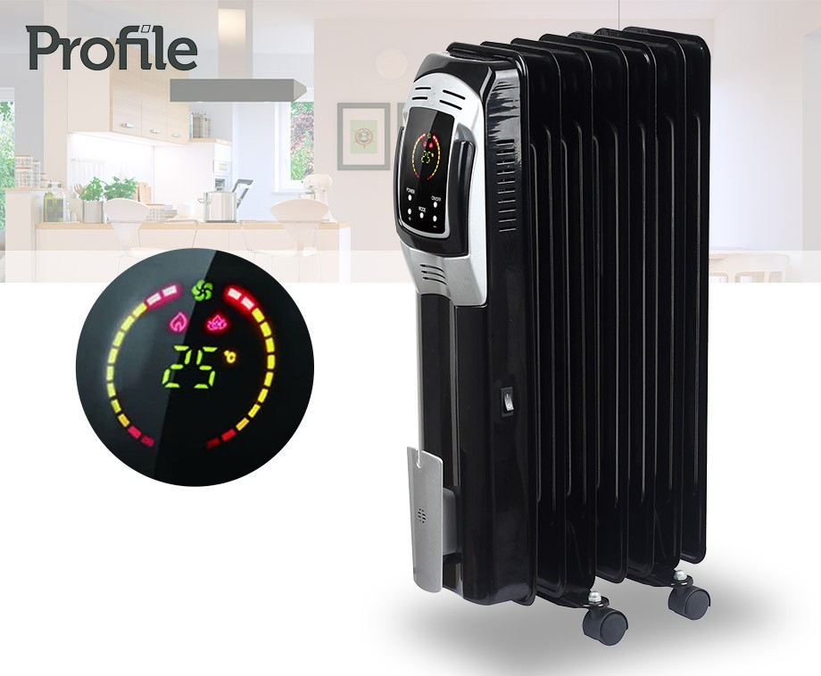 Radiator Met Spiegel : Radiator watt oliegevuld met led display en