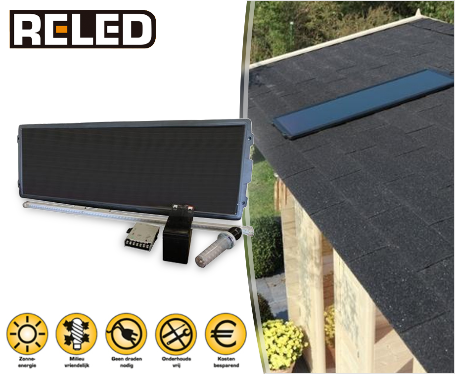 reled solar zonnepaneel led verlichting set ideaal voor garage of schuur