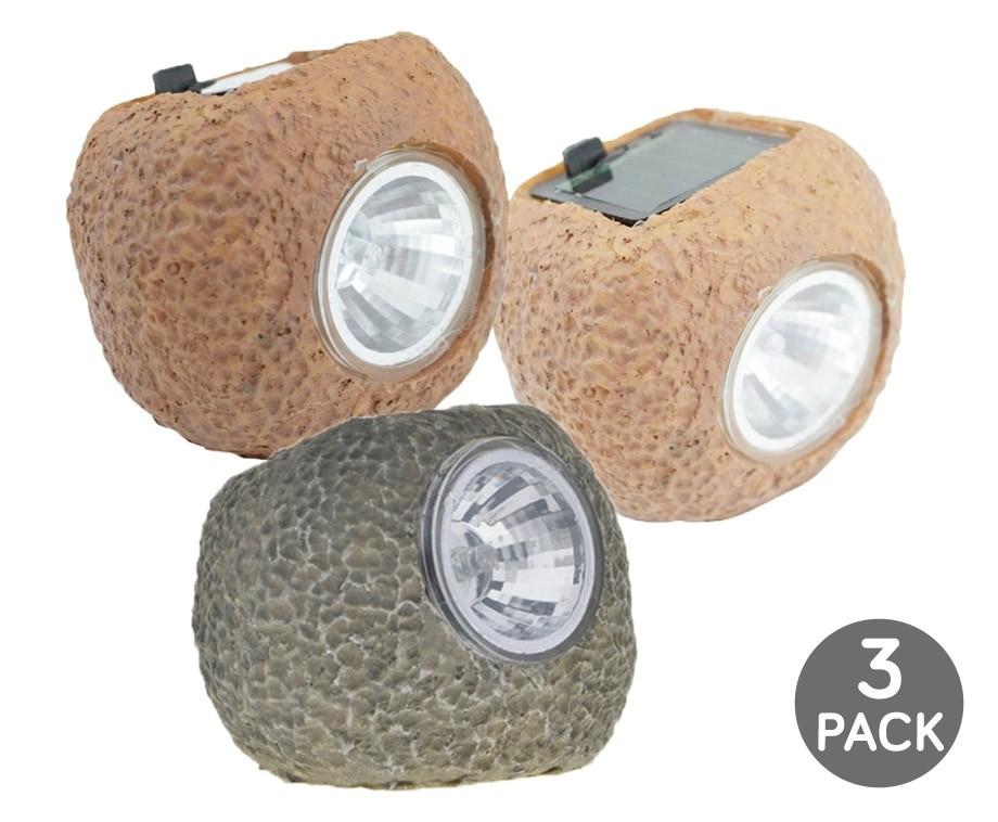 Sfeervolle Led Verlichting : Pack solar led rotslampen sfeervolle verlichting in de tuin