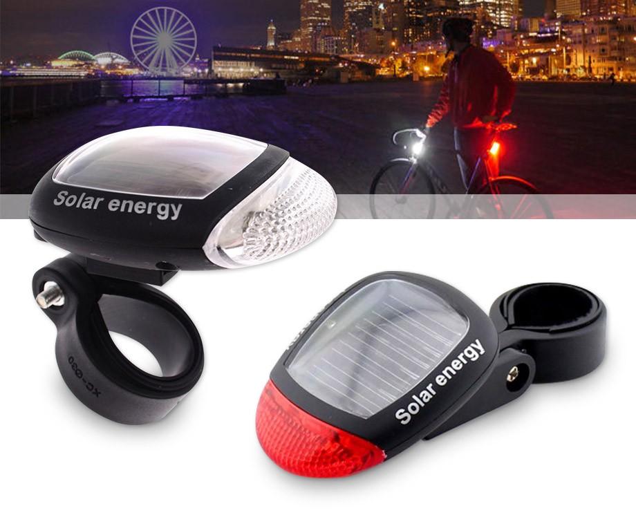 set solar fietsverlichting voor achter geen gedoe met dynamo en batterijen