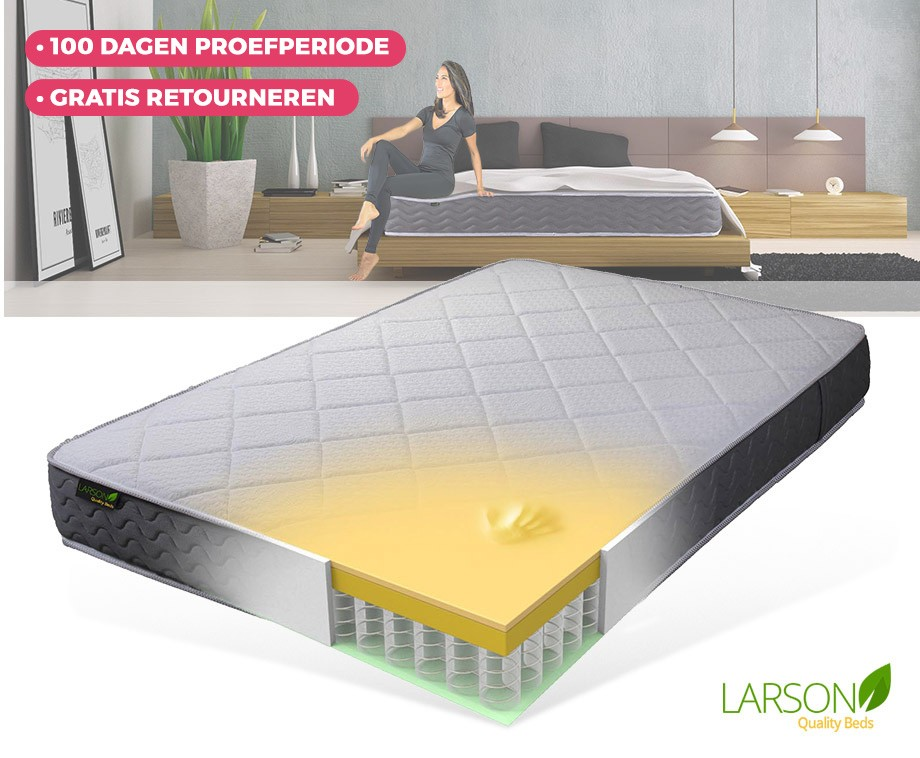 Larson Stockholm Matras : Larson stockholm matras met larson pocketsprings™ meerlaags voor