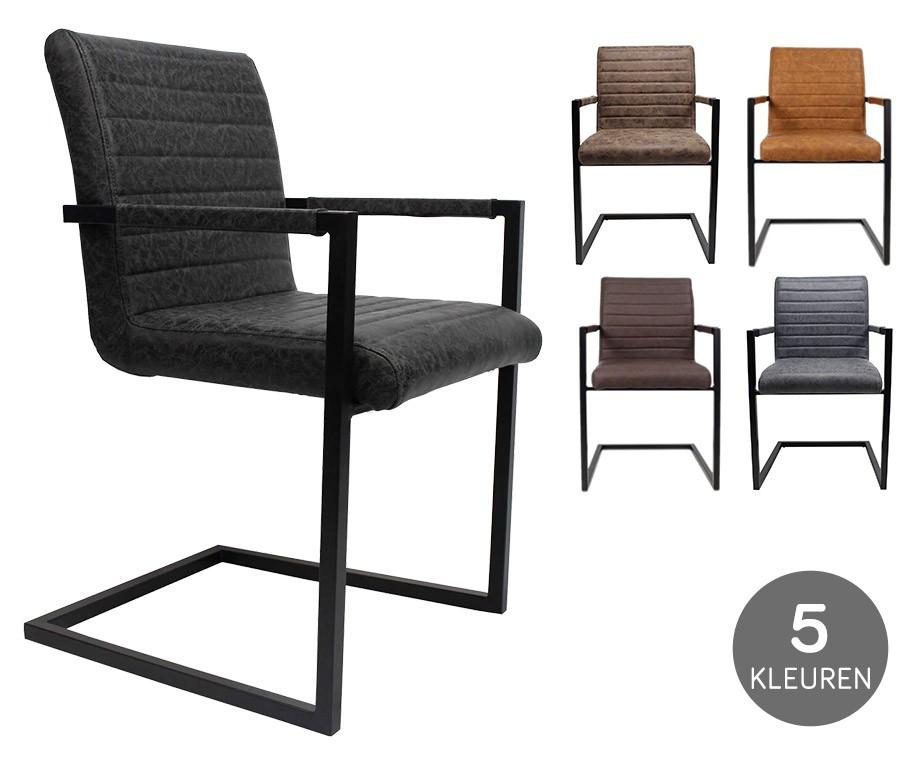 Stoer Industriele Eetkamerstoelen : Black frame designstoelen stoere stoel met vintage karakter