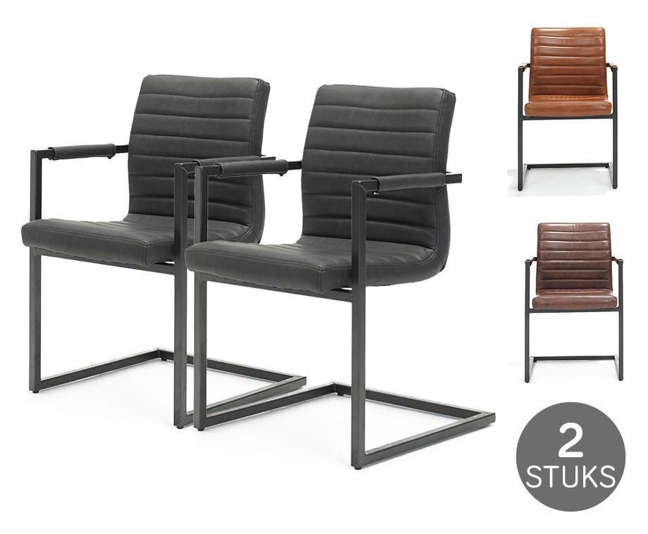2 pack industriële swinger stoelen keuze uit 3 kleuren