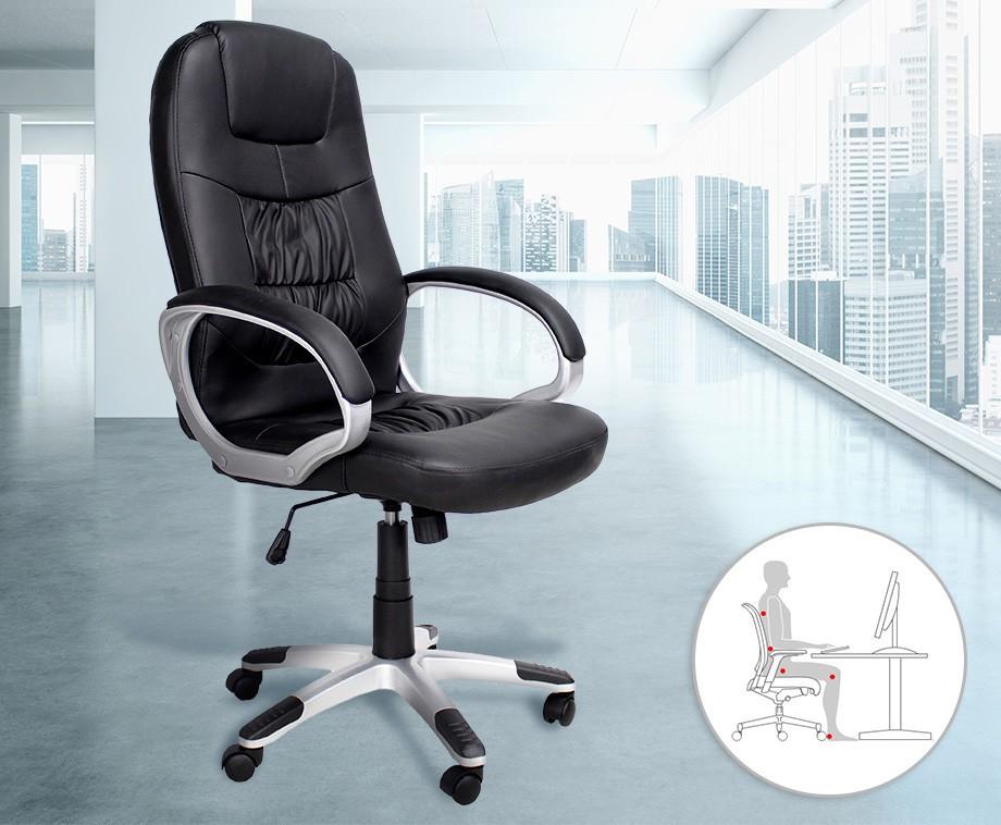 Luxe verstelbare bureaustoel biedt perfecte ondersteuning