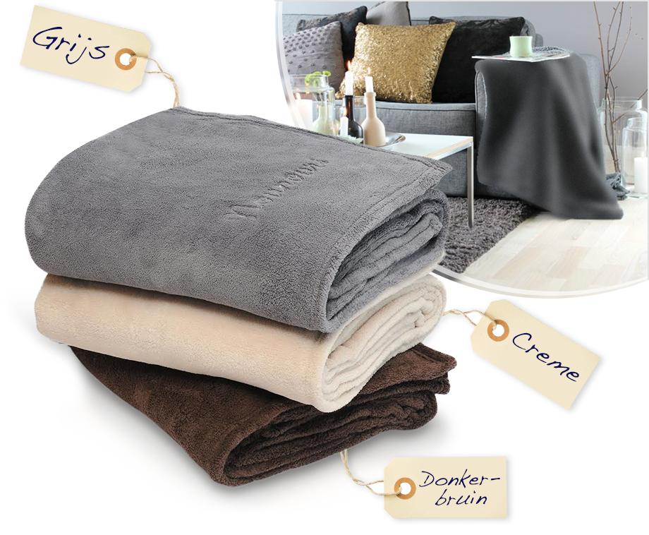 Slaapkamer Warme Kleuren : Warme plaids voor woon of slaapkamer keuze uit 3 kleuren
