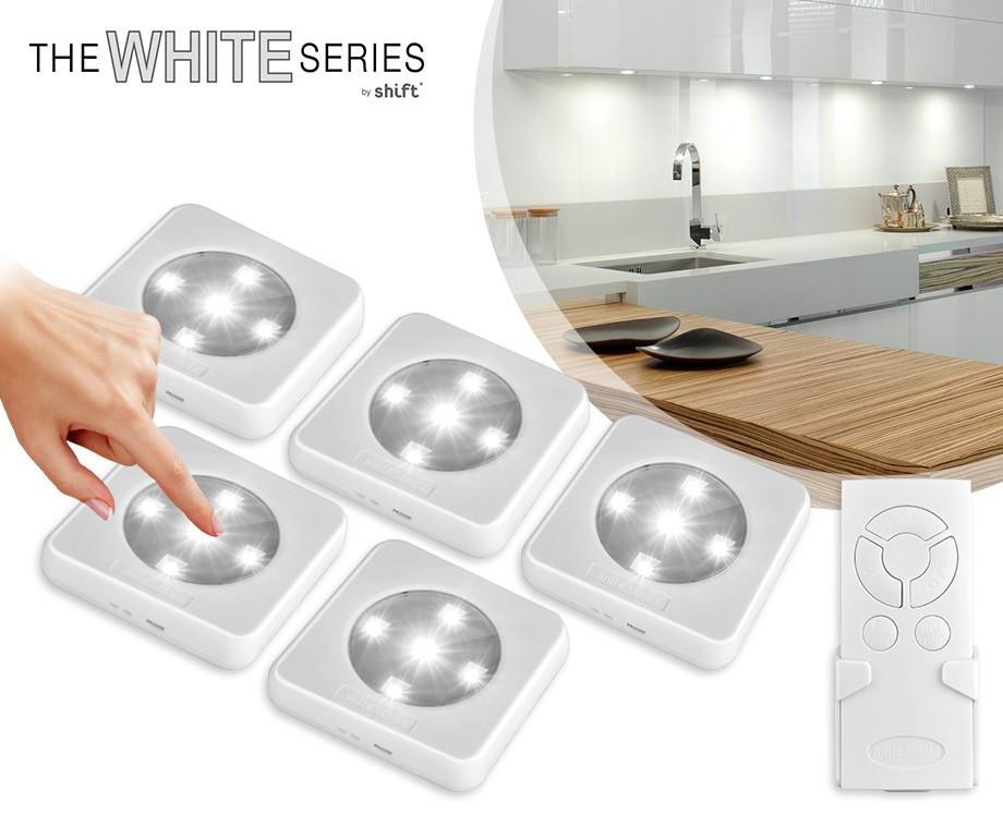 5 Oplaadbare Draadloze LED Spots - Met Afstandsbediening En Touch ...