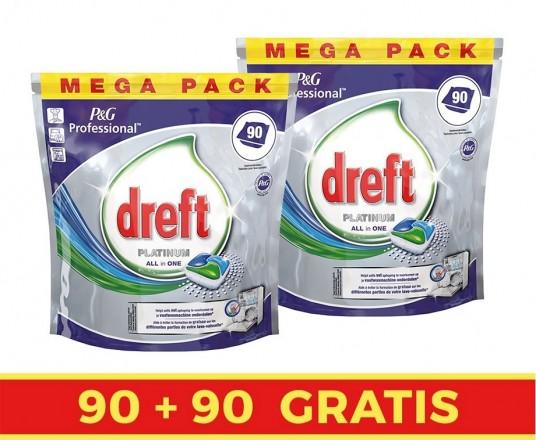 GIGA PACK Dreft Vaatwastabletten - 90+90 GRATIS!