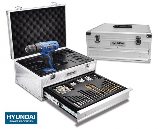 Hyundai Oplaadbare Boormachine In Luxe Koffer - Inclusief 275 Accessoires!
