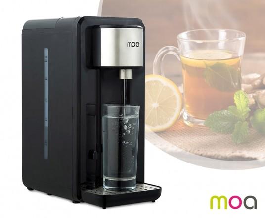 MOA Waterkoker - Zwart/Zilver - Gekookt Water Met één Druk Op De Knop!