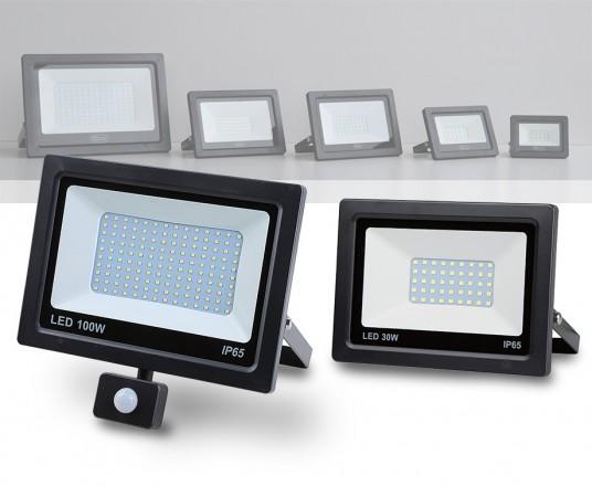 Krachtige SMD LED-Stralers Optioneel Met Sensor - Met Vermogen Tot 100W!