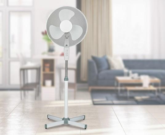 Luxe Staande Ventilator Met Kantelbare Kop - Onmisbaar Voor De Warme Dagen!