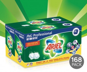 168 XXL-Pack Ariel Regular Tabs - Voor Een Stralend Schone Was!