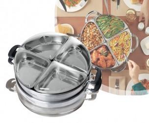 Luxe Buffet Warmer - 360 Graden Roterend En Oplaadbaar!