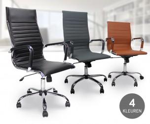 Luxe Design Bureaustoel - Met Hoge Of Lage Rugleuning!