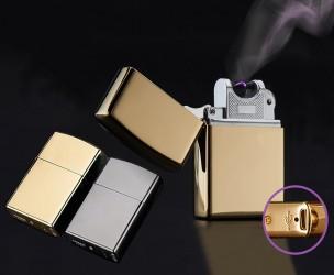 Nostalgische Aansteker In Modern Jasje - Oplaadbaar Via USB!