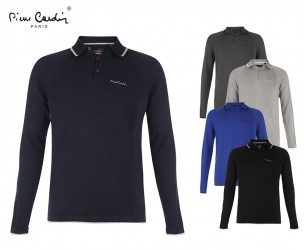 Pierre Cardin Long Sleeve Polo - Verkrijgbaar In 5 Kleuren!