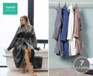 Nightlife Fresh Katoenen Badjassen Van Hotelkwaliteit Voor Mannen En Vrouwen!