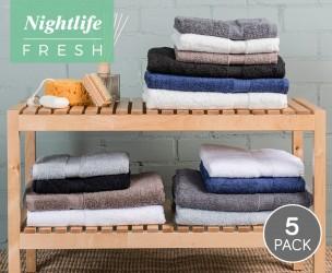 5-Pack Nightlife Handdoeken Of Badlakens - Verkrijgbaar In 7 Prachtige Kleuren!