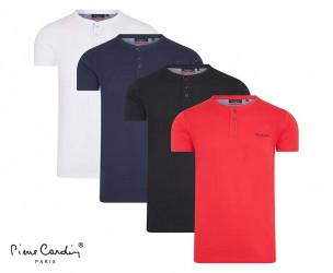 Pierre Cardin T-Shirt Met Knoopjes - Verkrijgbaar In 4 Kleuren!